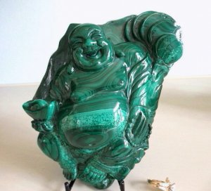 Malachite Laughing Buddha