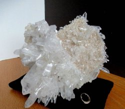 Clear Quartz Cluster w/2-Sided Burr Shelf