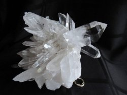 Clear Quartz Time Link Cluster