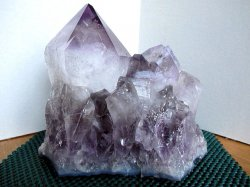Recordkeeper Large Point Amethyst Cluster