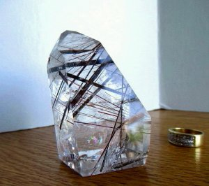 Clear Quartz Point w/Heavy Rutile