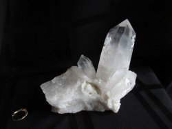 Clear Quartz Large Point on Frosty Base