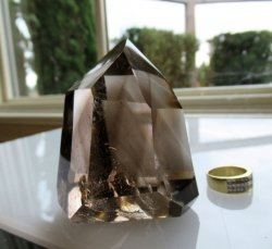 Smoky Quartz Double-Phantom Point