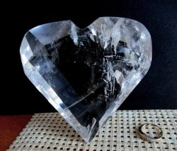 Clear Quartz Faceted Heart