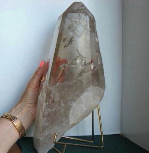 XL Champagne Time-Link Quartz Point
