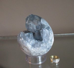 **SOLD**Celestite Cut-Out Sphere
