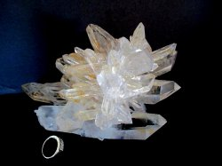 Golden Quartz Crystal Cluster