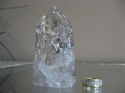 Clear/Smoky Quartz Crackle Point