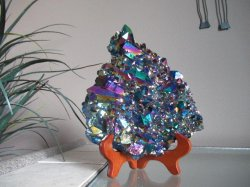 Titanium Aura Quartz for Wall/Table