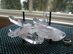 Clear Quartz DT Window Cluster