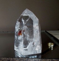 Clear Quartz DOW/Trans-Channeling Crystal w/Phantoms