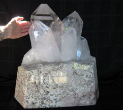 XXL Custom Quartz on Lighted Marble Stand