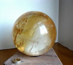 Large Honey Yellow Calcite Sphere