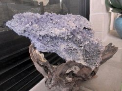 Grape Agate on Driftwood