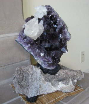 Amethyst/Calcite w/Two Stands
