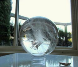 Clear Quartz Sphere w/Tabular Crystal