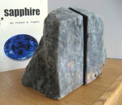 **Labradorite Bookends**