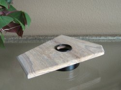 RAINBOW SANDSTONE LIGHTED DISPLAY STAND