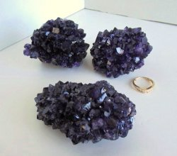 Amethyst Quartz Nodules (Set of 3)