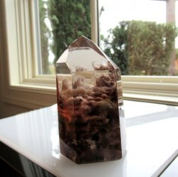 **SOLD**Smoky Quartz Amphibole Point