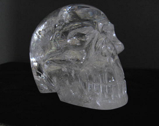 Lemurian Quartz Crystal Skull Carving - Click Image to Close