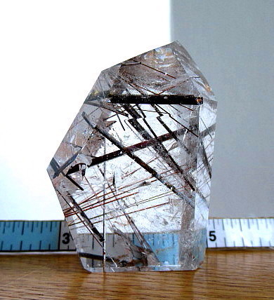 Clear Quartz Point w/Heavy Rutile - Click Image to Close