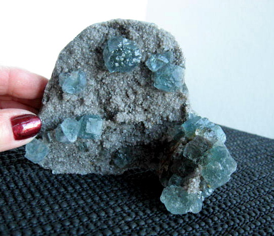Blue Fluorite Cluster - Click Image to Close
