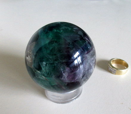 Small Fluorite Sphere - Click Image to Close
