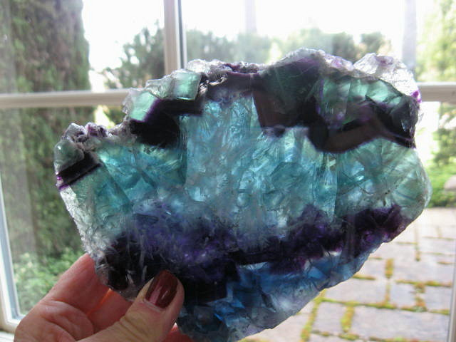 Fluorite Slice - Click Image to Close
